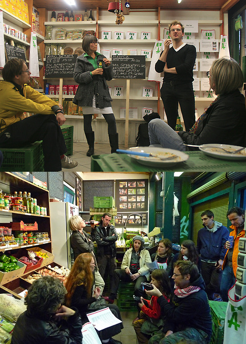 WochenKlausur and Elke Krasny have been invited by the Market Academy naschmarkt to run a workshop in order to stimulate thoughts, amongst the market standholders about the future of the Naschmarkt. WochenKlausur led WAS TUN workshop, on Monday 31 May 2010 and Elke Krasny WIEDER (ER)FINDEN workshop, on Tuesday 1 June 2010.