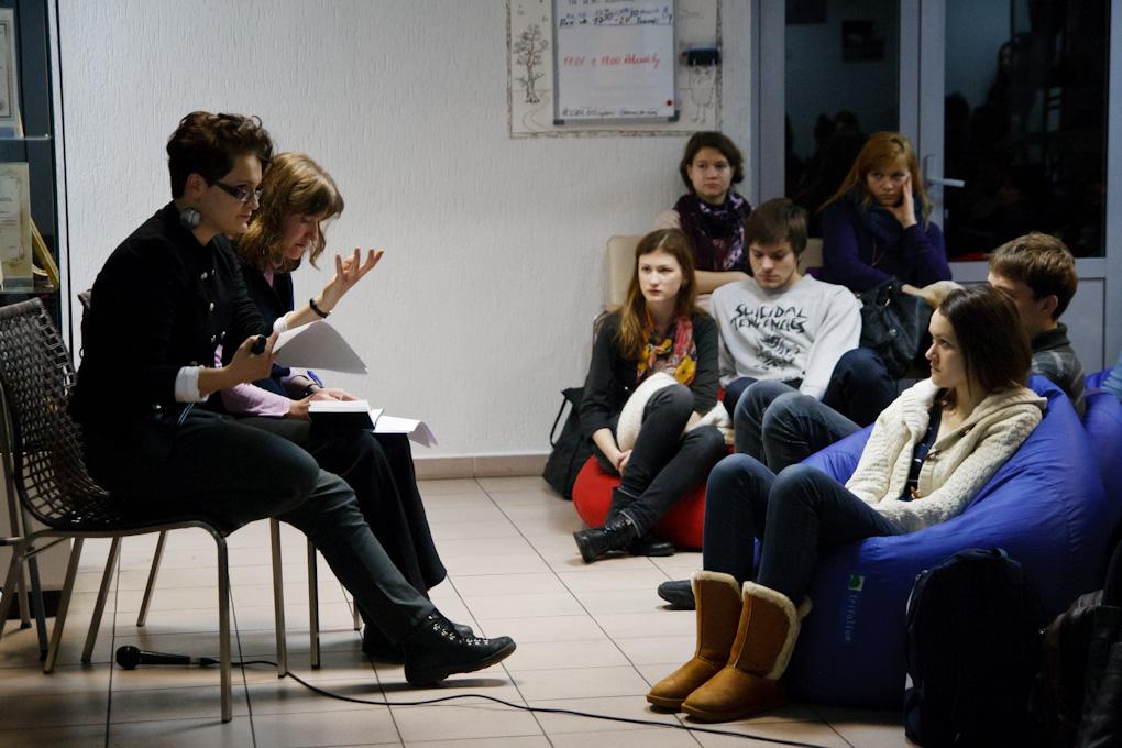 Дискуссия после лекции / фото ziernie-performa.net